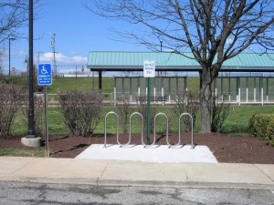New bike rack installed at Woodbridge VRE Station