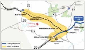 VRE Gainesville-Haymarket Extension Map