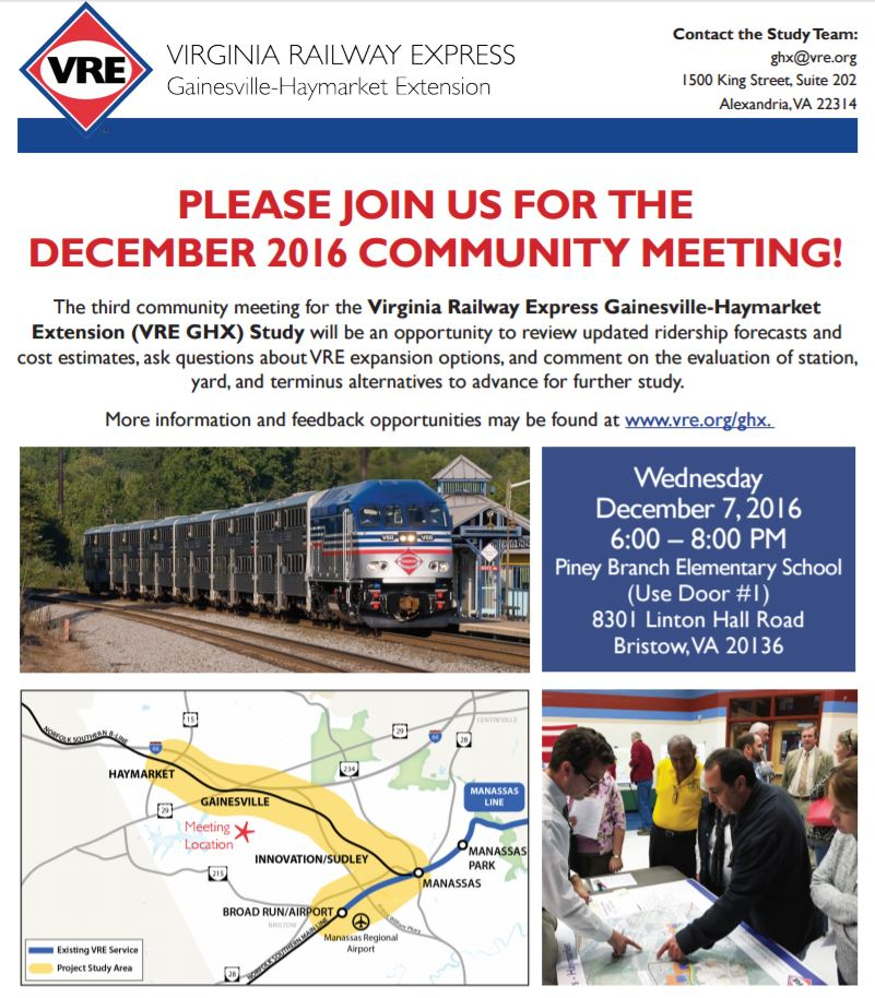 VRE Extension Meeting Flyer