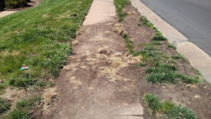 Debris on sidewalk before request was submitted