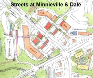 Streets at Minniville and Dale Map